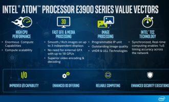 英特尔推出 A3900 和 E3900 两款 Atom 芯片,加码 IoT 和汽车芯片